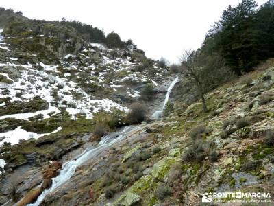 Chorro o Chorrera de San Mamés; Cascada; Caida de agua; Salto agua;senderismo guadalajara